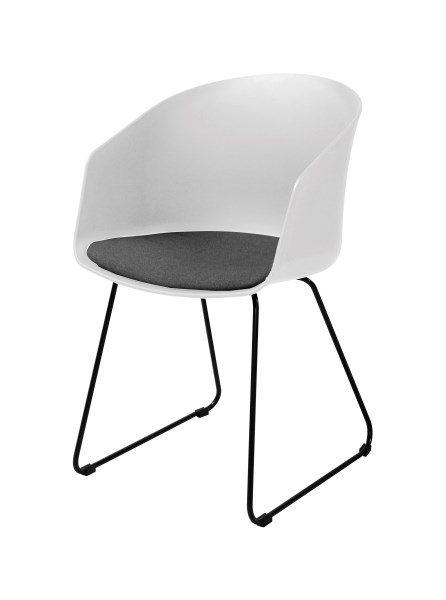 MOON 40 spisebordsstol, Hvid/Sort