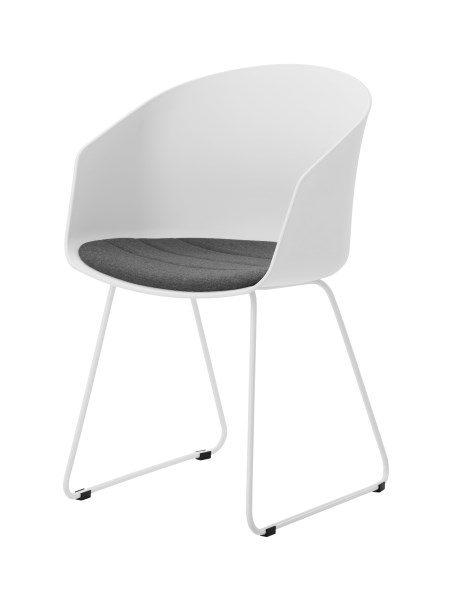 MOON 40 spisebordsstol, Hvid