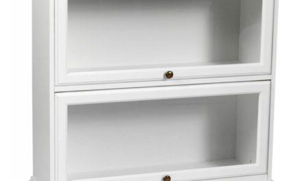 Leonardo bogreol – hvid, lille m. 2 låger