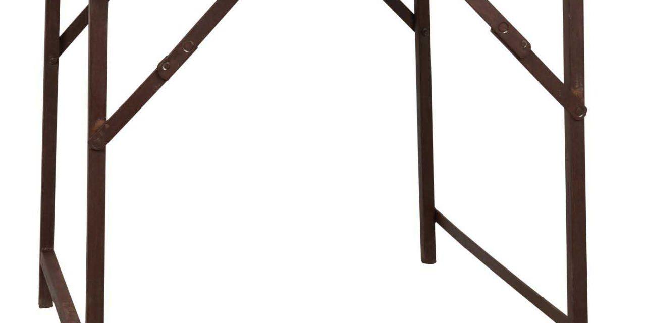 IB LAURSEN Unika cafébord – genbrugstræ, metalstel