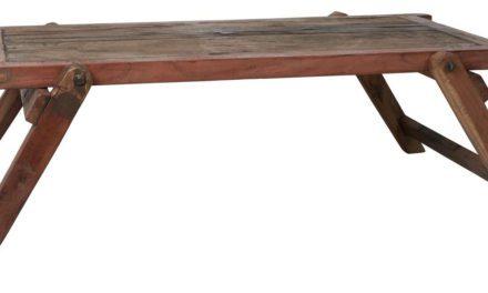 IB LAURSEN Unika sofabord – genbrugt træ, m. skrå ben