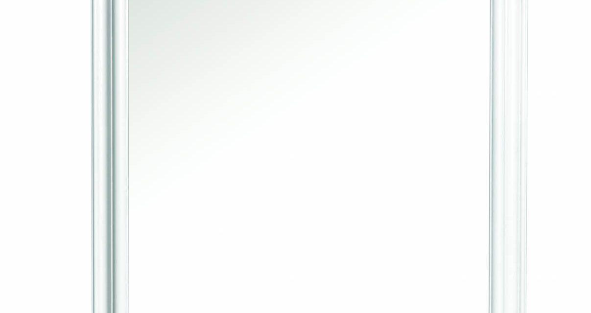Minette vægspejl – hvid (87×57)