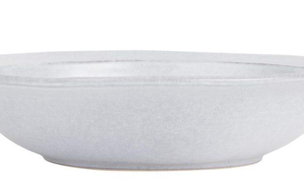IB LAURSEN dyb tallerken – gråt stentøj