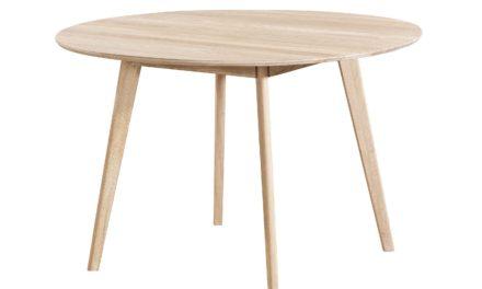 Yumi spisebord – Hvidpigmenteret egetræ, rundt (Ø:115)