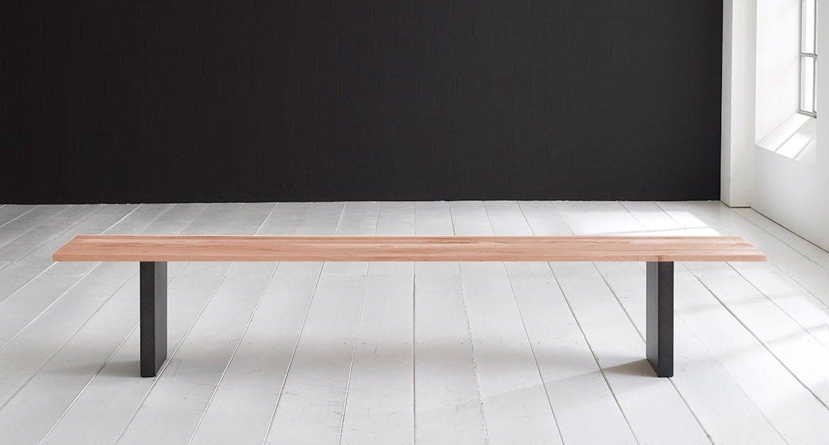 Concept 4 You Spisebordsbænk – T-Ben 180 x 40 cm 3 cm 03 = white wash