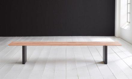 Concept 4 You Spisebordsbænk – T-Ben 220 x 40 cm 3 cm 03 = white wash