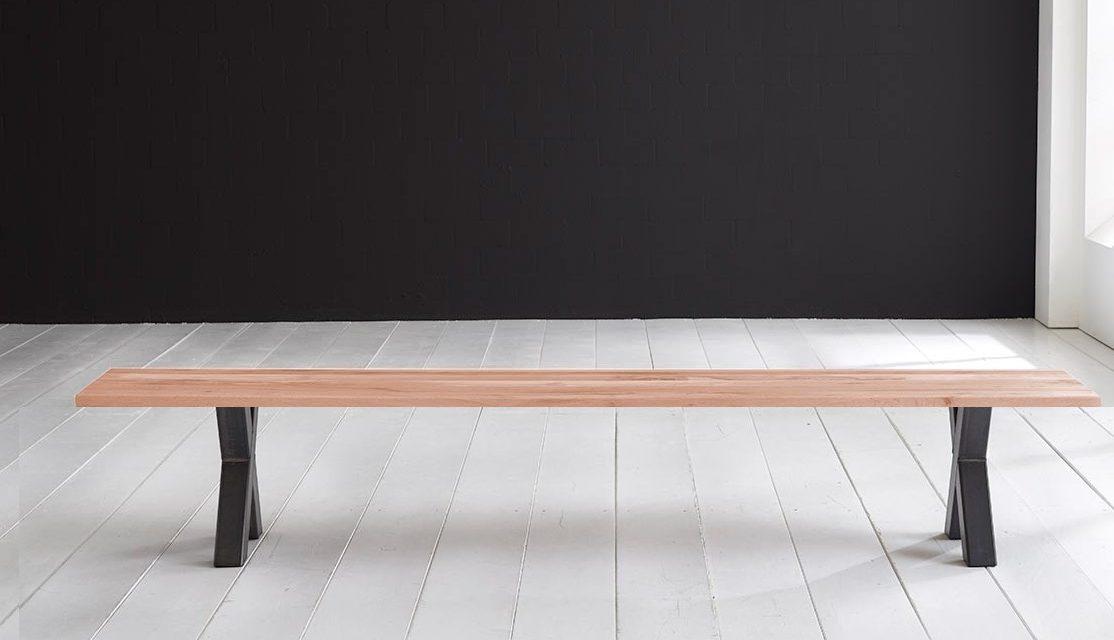 Concept 4 You Spisebordsbænk – Freja ben 240 x 40 cm 3 cm 03 = white wash