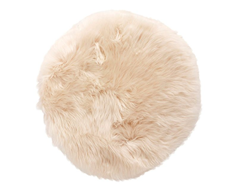 HÜBSCH Hvid stolehynde, korthåret
