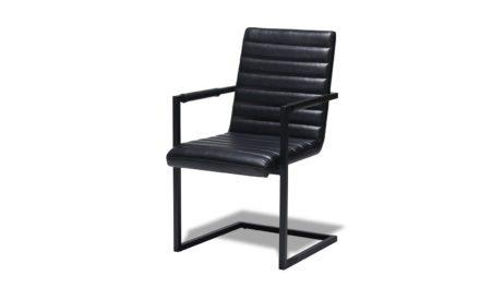 Fanny Spisebordsstol med armlæn, Sort