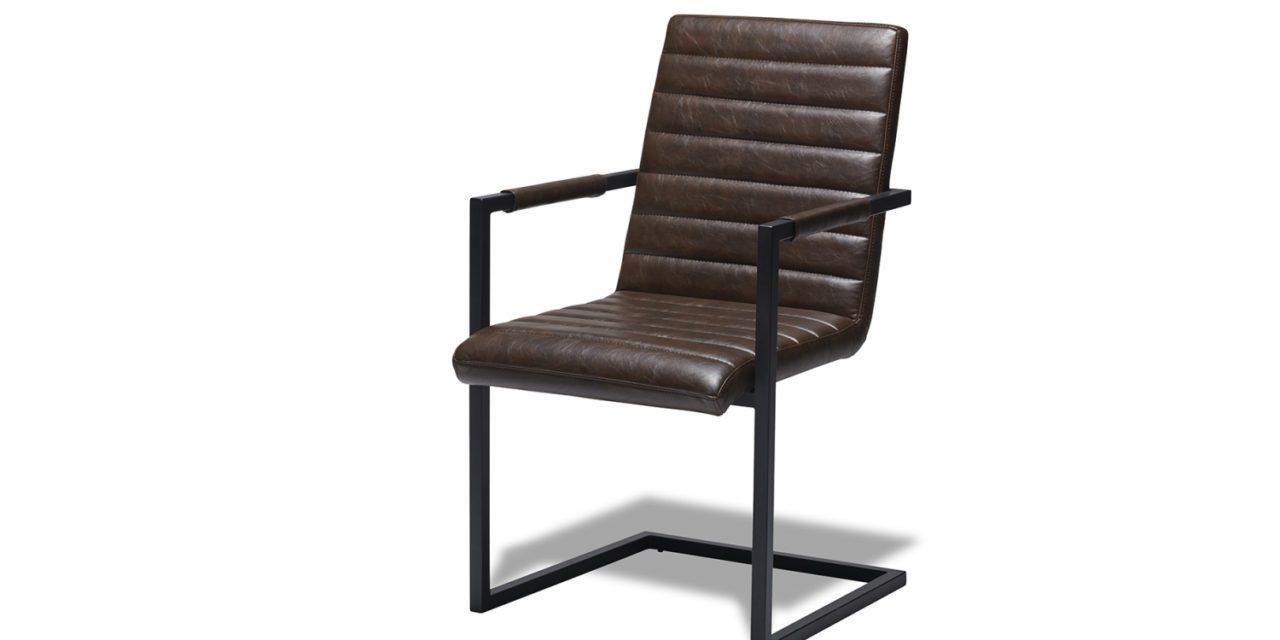 Fanny Spisebordsstol med Armlæn, Mørkebrun