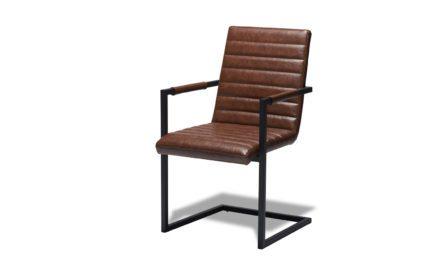 Fanny Spisebordsstol med Armlæn, Brun