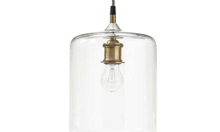 HÜBSCH Lampe, glas/messing