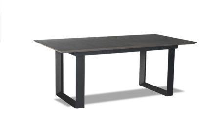 Madrid Spisebord – grå/sort m. butterflybordplade