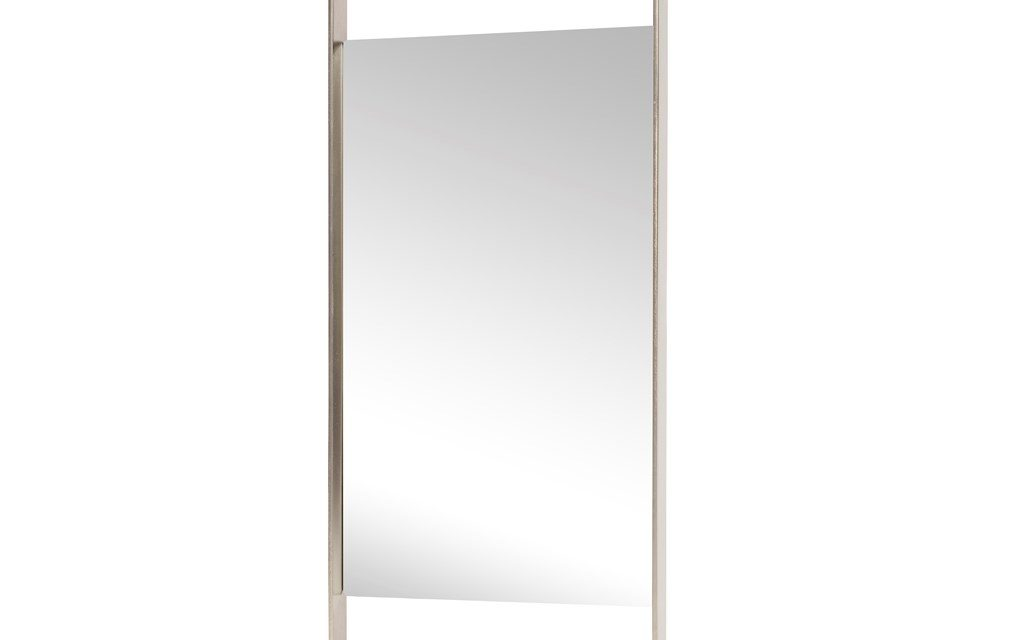 HÜBSCH Spejl med jernramme, firkantet