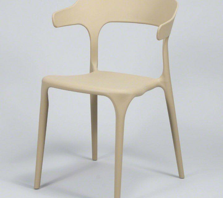 FURBO Spisebordsstol, beige plast