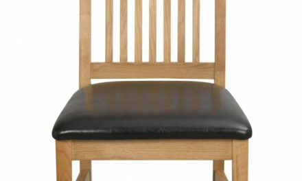 Kansas spisebordsstol – eg/sort kunstlæder