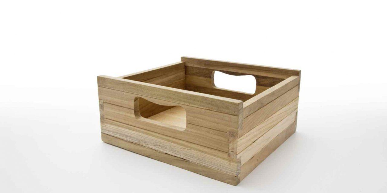 NOVASOLO Bordeaux Teak kasse, lille