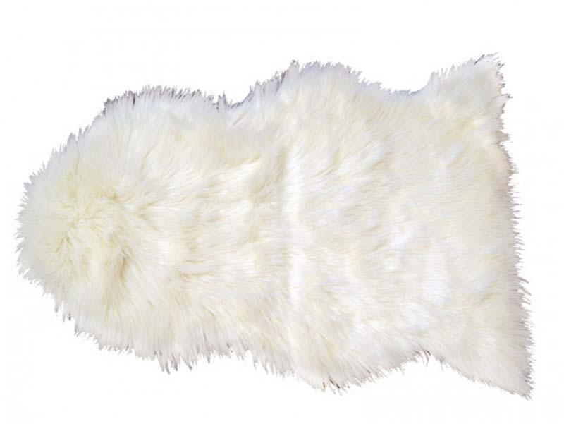 deko skind, hvid