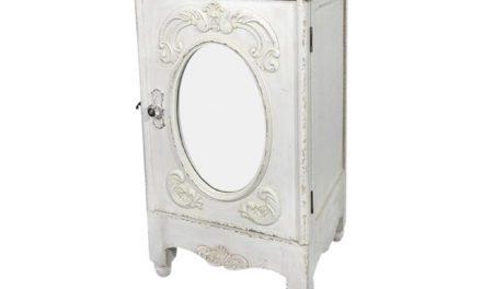 CHIC ANTIQUE Skab med spejl og fransk dekor