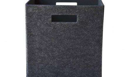 Mariann filt kasse, mørkegrå