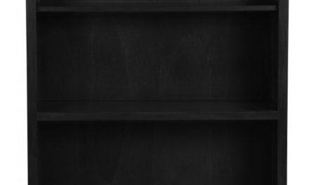 Leonardo bogreol – sort m. 5 hylder