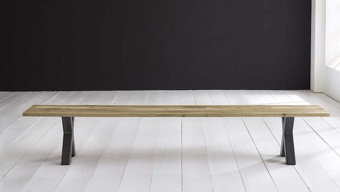 Concept 4 You Spisebordsbænk – Freja ben 200 x 40 cm 3 cm 05 = sand