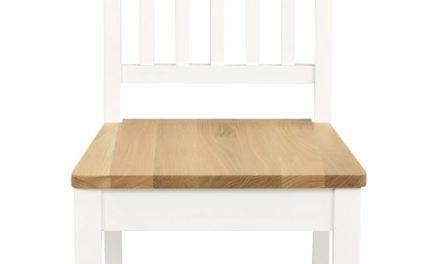 Ella spisebordsstol – Hvid/natur egetræ