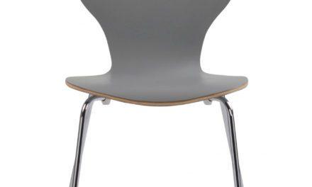 Fusion skalstol – lysegrå/krom