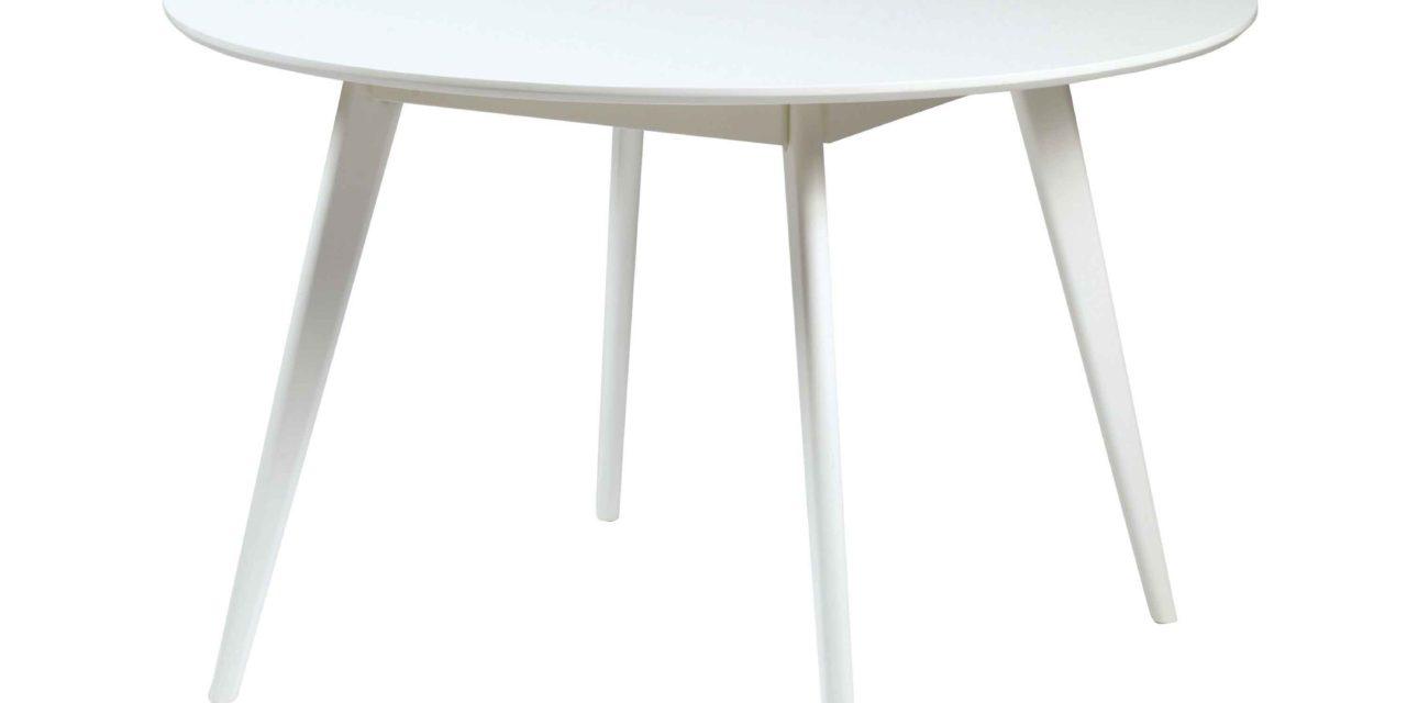 Yumi spisebord – Hvidt egetræ, rundt (Ø:115)