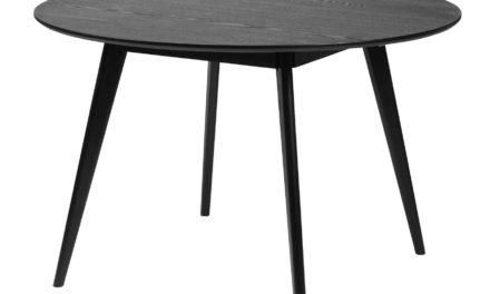 Yumi spisebord – Sort egetræ, rundt (Ø:115)