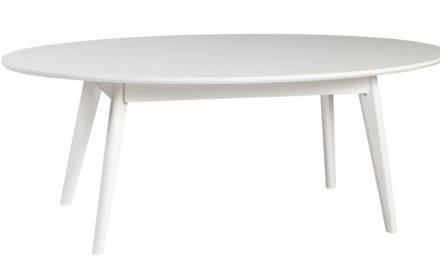 Yumi sofabord – Hvidt egetræ, ovalt