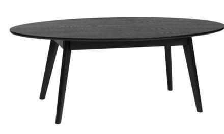 Yumi sofabord – Sort egetræ, ovalt
