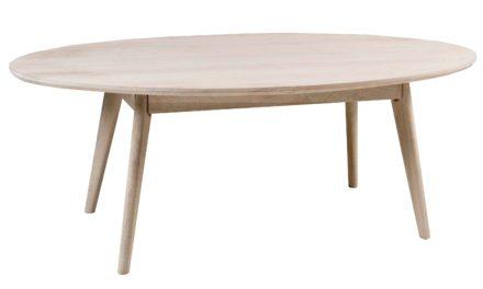 Yumi sofabord – Hvidpigmenteret egetræ, ovalt