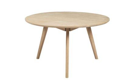 Yumi sofabord – Hvidpigmenteret asketræ, rundt (Ø:90)