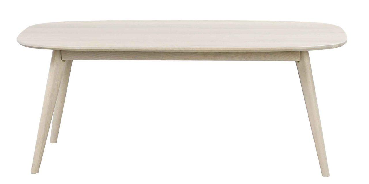 Yumi sofabord – Hvidpigmenteret egetræ, 125×60