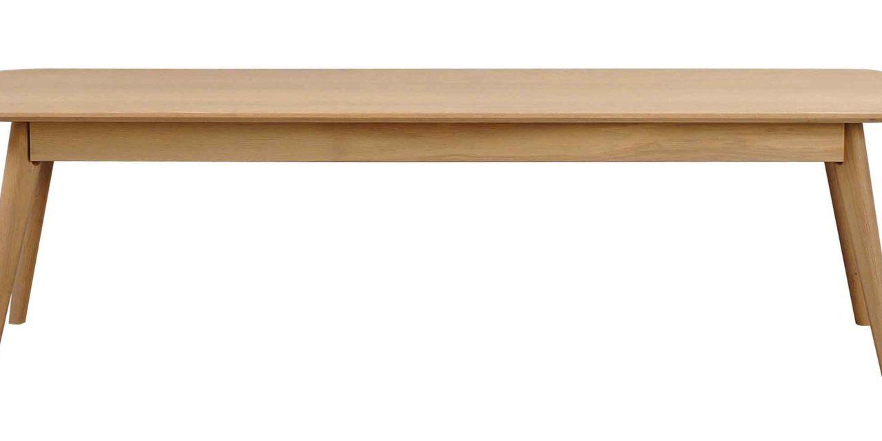 Yumi spisebordsbænk – Lakeret egetræ