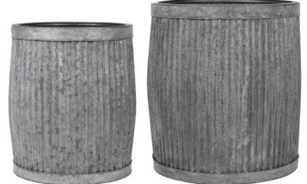 IB LAURSEN skjulersæt – gråt metal (sæt à 2 stk) rund (Ø44)