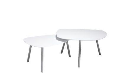 Malou sofabordssæt stor – lille bord: sort. stort bord: hvid: Efter aftale Nicolai