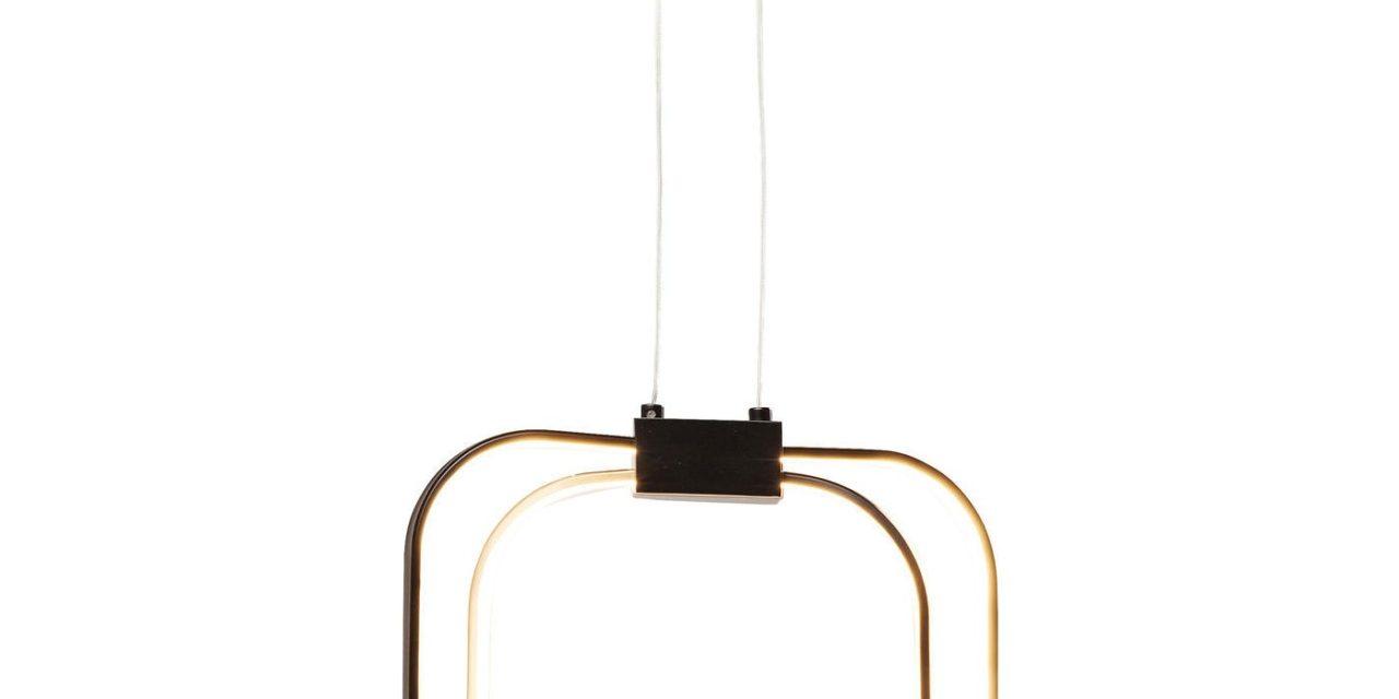 Pendant loftslampe Cubes Sort LED