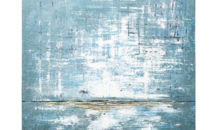 Oliemaleri Abstract Blue One 150 x 120 cm