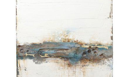 Oliemaleri Abstrakt Stroke One 120 x 90 cm