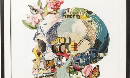 Billede Frame Art Skull 100 x 100 cm