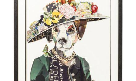 Billede Frame Art Lady Dog 90 x 72 cm