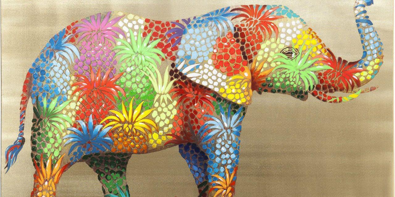 Billede Touched Flower Elefant 90 x 120 cm