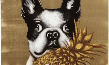 Populært Touched dog with pineapple billede i linned fra brandet Kare Design
