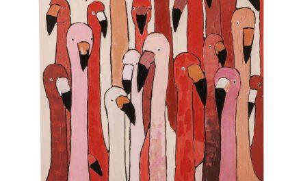 Billede Touched Flamingo Meeting 120 x 90 cm