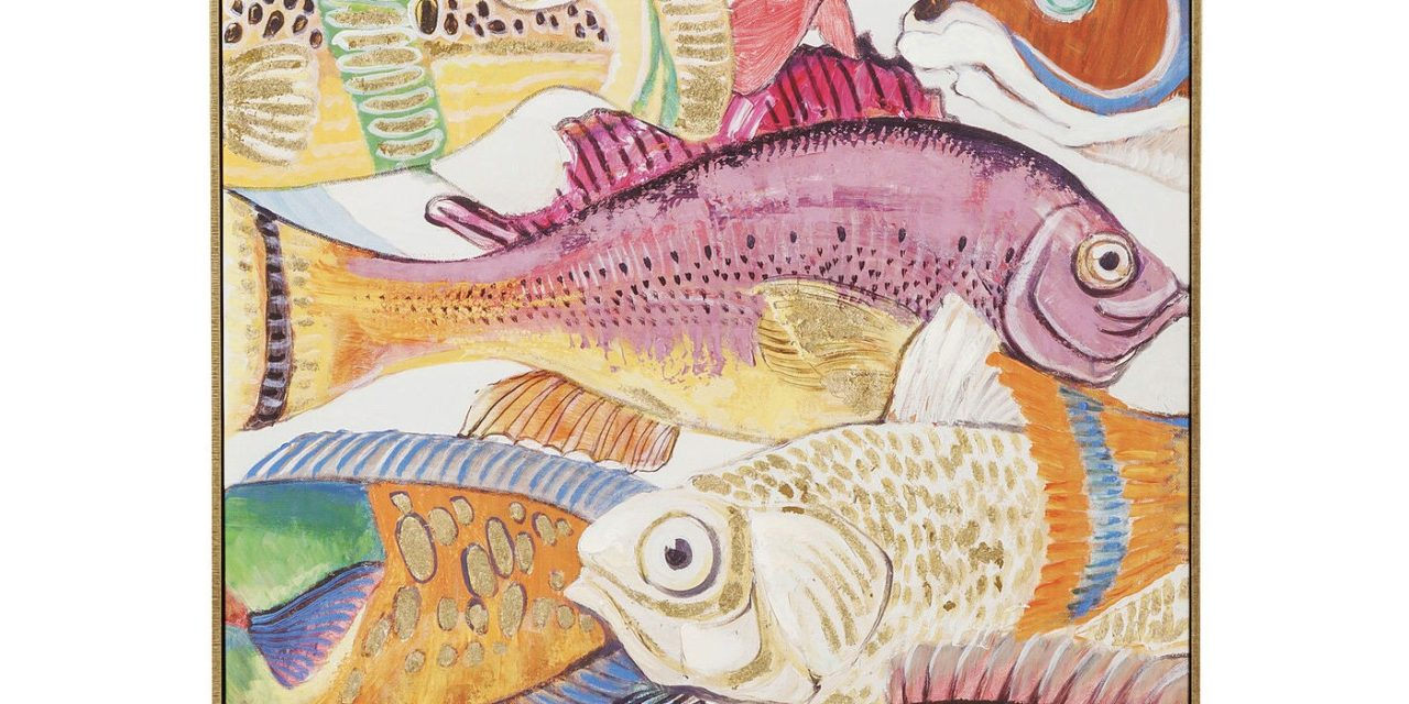 Billede Touched Fish Meeting One 100 x 70 cm
