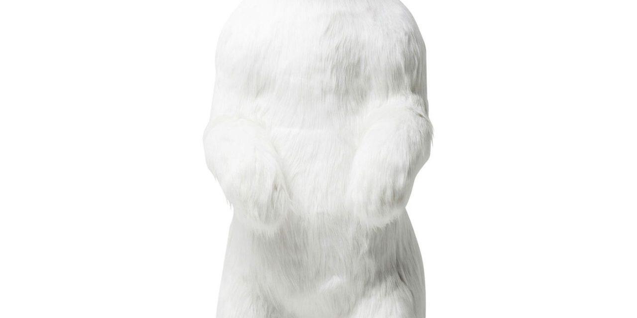 Dekoration Figur Moving Sound Polar Bear Fur