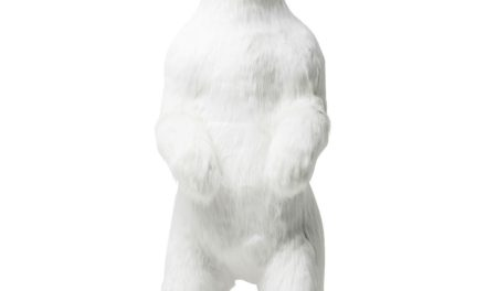 Dekoration Figur Moving Sound Polar Bear Fur
