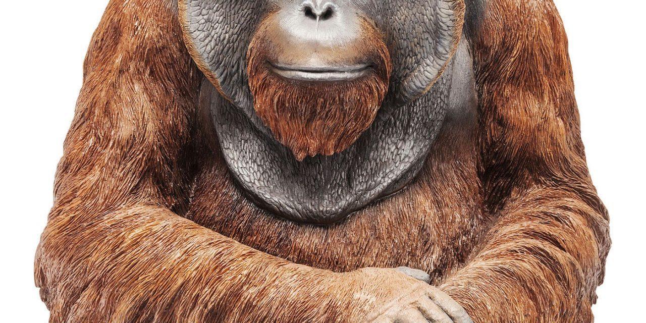 Dekoration Figur Monkey Orangutan Stor